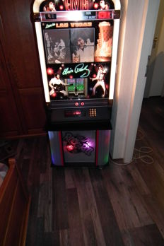 Rare Elvis Presley Jukebox for 100 CDs with very nice lighting, and bottom cabinet with beautiful changing lights