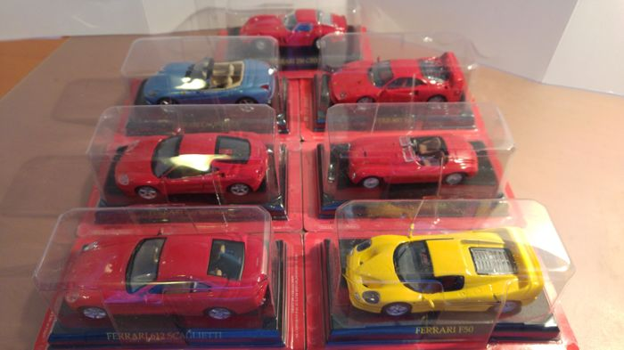Ixo-Altaya - Scale 1/43 - Lot with 7 models: 7 x Ferrari