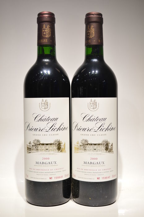 2000 Chateau Prieure Lichine, Margaux Grand Cru Classé - 2 bottles