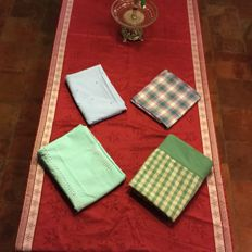 Lot of five different tablecloths
