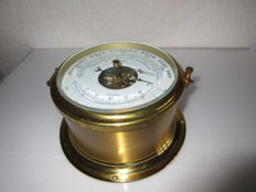 German A. Schatz thermometer compensated precision ships barometer