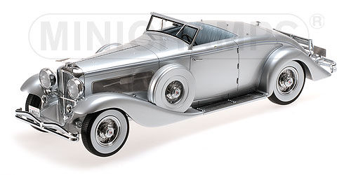 Minichamps - Scale 1/43 - Duesenberg SJN Convertible Coupe 1936 - Limited 999 pcs - Colour Silver