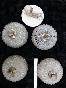 Unknown designer - Ceiling lighting ornaments (4 x)
