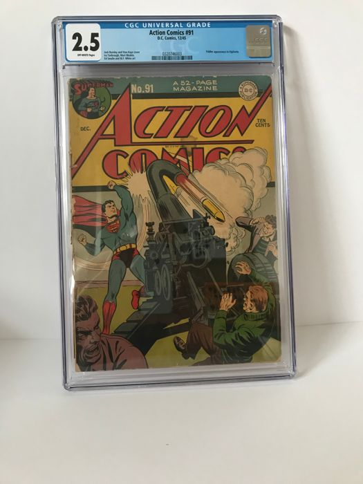 DC Action Comics #91 - CGC GRADED G+ 2.5 - (1945)