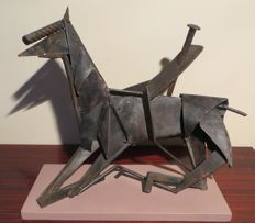Iron Sculpture - Title: Caduta - Fall off a horse - 2015 - Terlizzi (BA), Italy