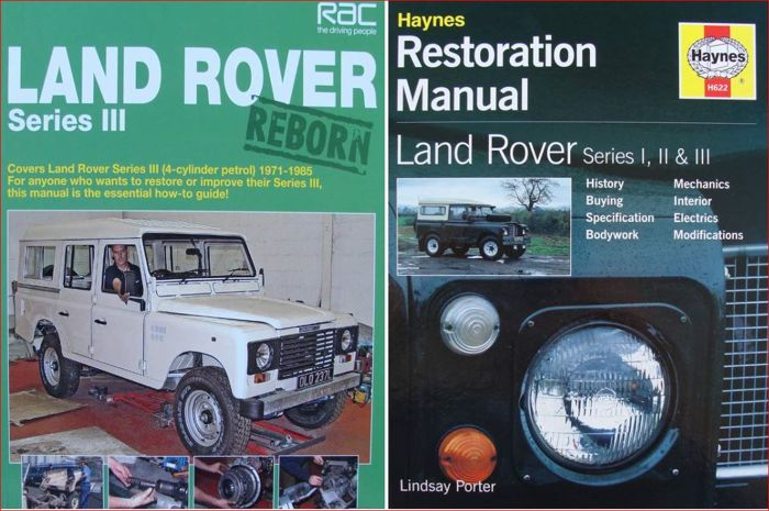 2 Books / Manual on Land Rover Series I, II and III