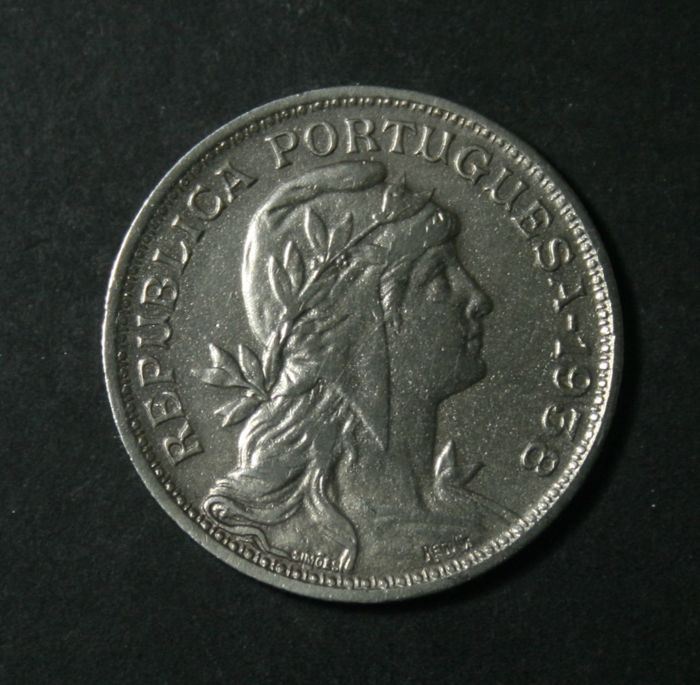 Portugal Republic – 50 Centavos – 1938 – Nickel silver – Rare