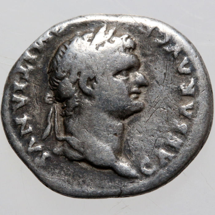 Roman Empire - AR Denarius Domitian as Caesar 81-96 A.D Under Vespasian or Titus Horseman COS V-Rome