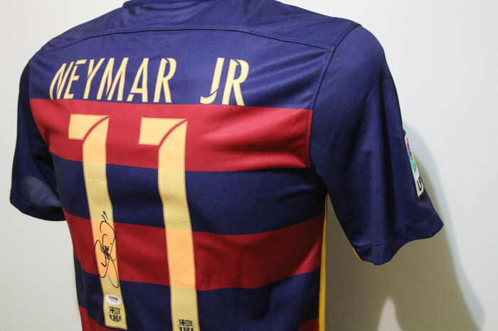 2c7511671b5 Neymar Jr Authentic Hand Signed Nike Soccer  11 Barcelona Home 2016 Soccer  Jersey. Neymar Santos Autographed with PSA   DNA Letter of Authenticity.