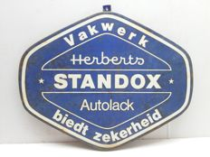 Very old enamel sign autolack standox - 1950