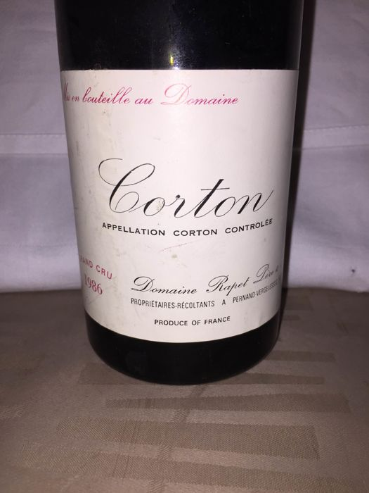 1986 Corton Grand Cru-Domaine Rapet x 1 bottle