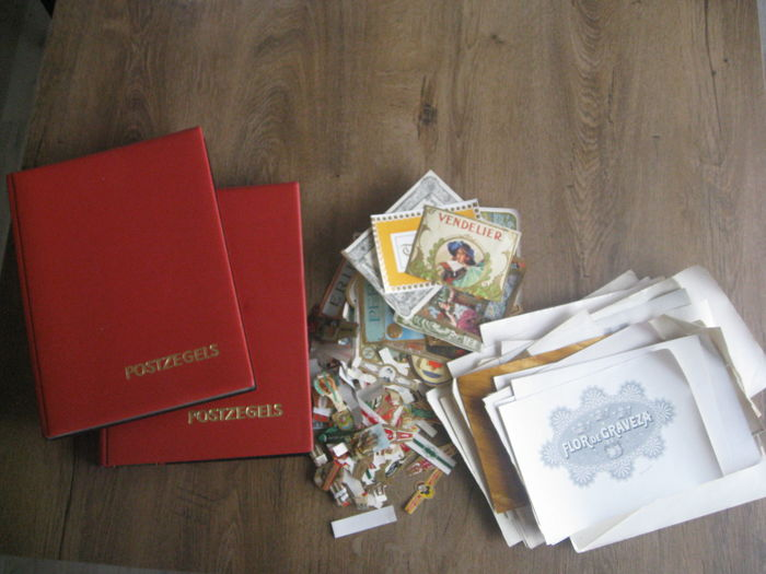 Collection of cigar bands, 1417 in 2 albums and a bag of loose pieces and  101 labels for advertising - Catawiki