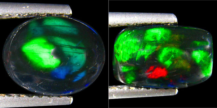 Lot of Rainbow Multi Flashing Black Opal - 2.34 Ct (2)