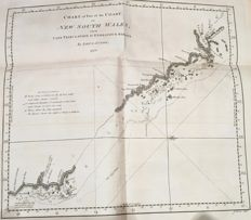 Australia; James Cook - Chart of Part of the Coast of New South Wales - 1770
