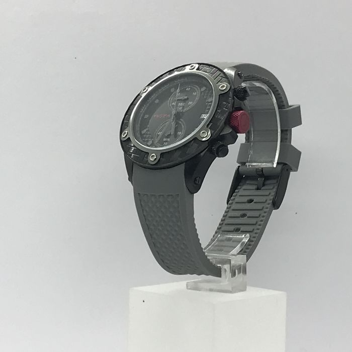 red line - Black PVD Coating  chronograph with Rubber Band  - RL-10118DV - Heren - 2011-heden