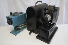 "The very first filmoscope of the USSR ""FGK-49"" 1949 year.+ As a gift USSR F-3 filmoscope 1960-1979."