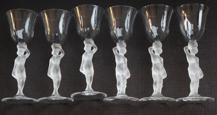 Bayel France - 6 part matte drinking glasses.