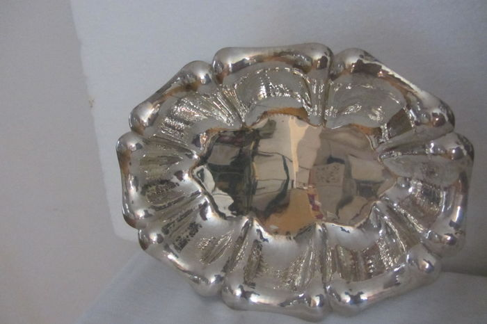Handcrafted Silver Tray Italy, 1970s