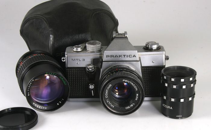 Praktica mtl with mm orion mm extension rings and