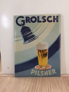 Grolsch Pilsener - old advertising sign