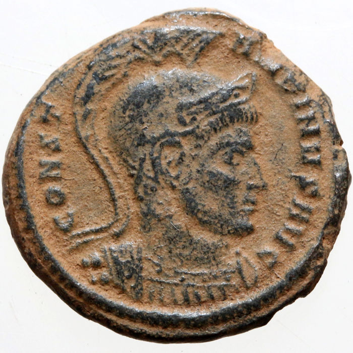 Roman Empire - AE Follis Constantine I as Augustus Ticinum 319-320 A.D