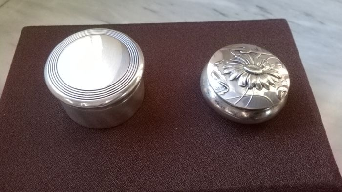 2 Silver Pillboxes Italy, 20th century