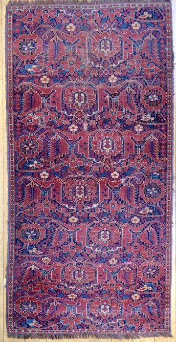Antique Turkmen Beshir Rug circa 1850