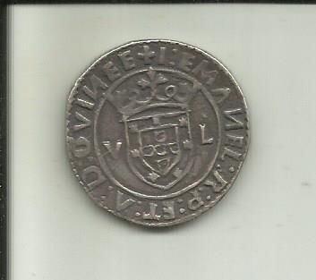 Portugal, Monarchy – D. Manuel I ( 1495-1521 ) – Tostão (equivalent to 100 Reais face value) – Lisbon – EMANEL (Mintage error) – Not Listed – Silver
