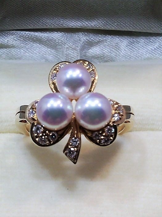Mikimoto - 18 kt. Gold - Ring