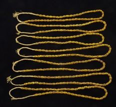 7 Strand of French Cross Venetian Trade beads (1850 - 1925)