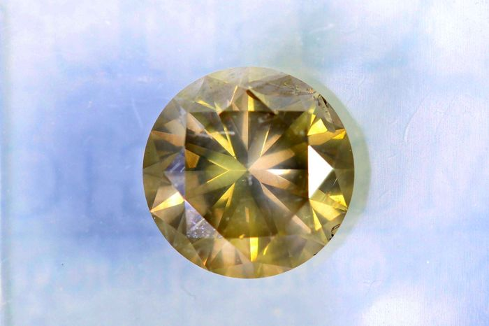 Fancy Greyish Yellow Diamond -  1.11 ct - SI2 - * NO RESERVE PRICE *