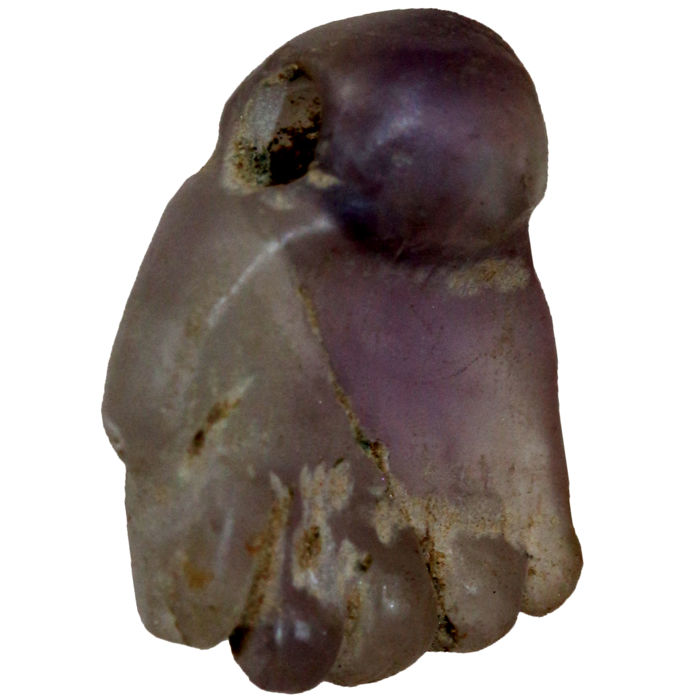 An Egyptian Amethyst Amulet Pendant  in the Form of a Hand