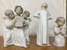 Lladró figures in a limited series - Singing boys - Girl - Little angel