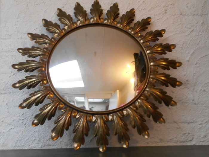 Large - old - solar mirror - metal - Belgium, second half of 20th century
