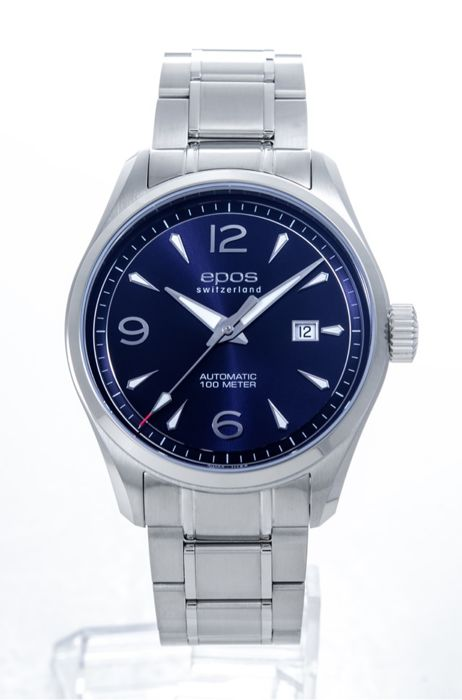 Epos - Stainless steel automatic movement  - 3401-S/S-BLU-ARAB - Heren - 2011-heden