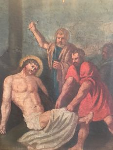 Anonymous (18th century) Deposition of Christ with disciples