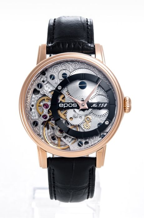 Epos - Oeuvre D'art 3435 Skeleton with Pulsometer - 3435/F-RG-BLK  - Men - 2011-present