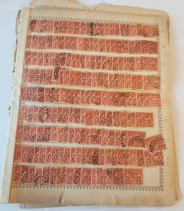 Germany (German Reich) 1916/1918 –  Dienst Marke, 505 postage stamps.