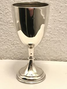 Large antique silver (Wine) goblet - William Vale & Sons - Chester - 1926