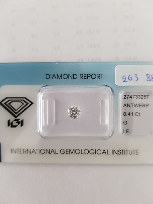 0.41 crt brilliant cut diamond G I.F