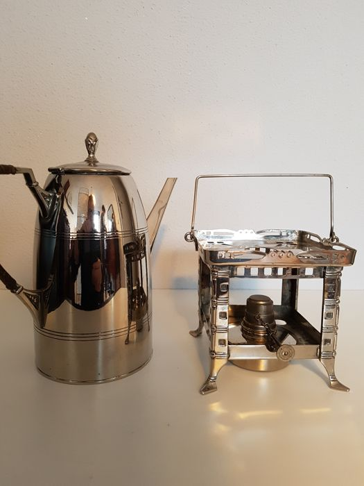 beautiful 1920s coffee pot with chafing dish catawiki. Black Bedroom Furniture Sets. Home Design Ideas