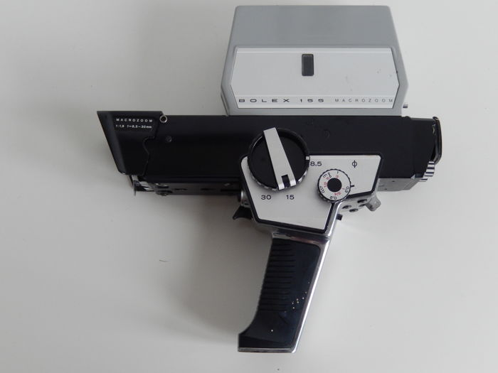 Bolex 155 macro zoom 8 mm film camera - 1970