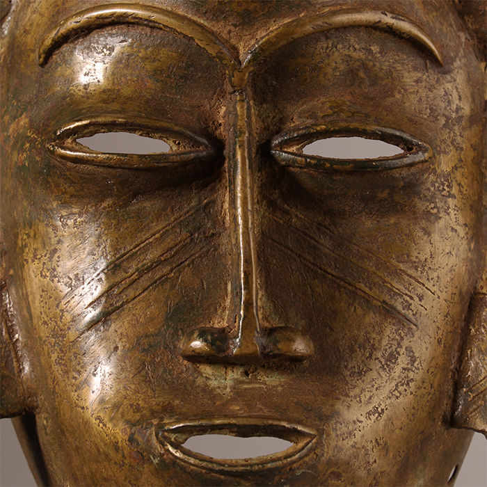Bronze Kpelie mask of the Poro cult - Ivory Coast