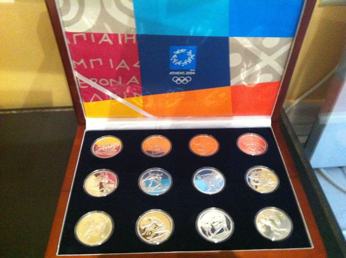 Grèce - 10 Euro 2004 'The Olympic games of Athens' (12 pièces)