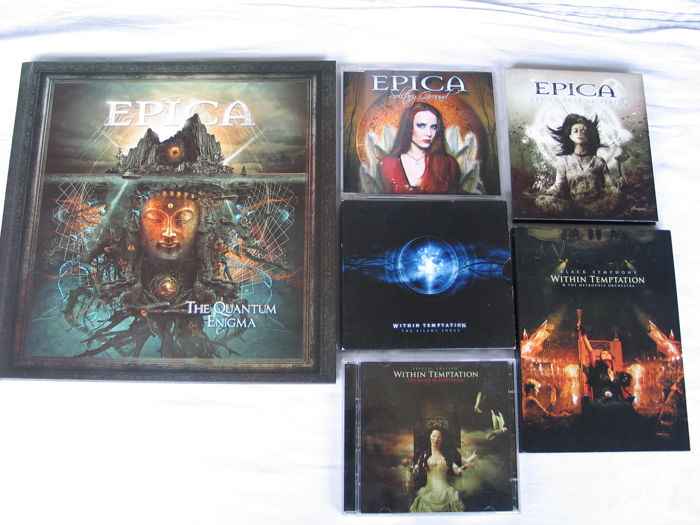 EPICA and WITHIN TEMPTATION  - lot of 1 x 3 CD Earbook + 4 CD's and 3 DVD's