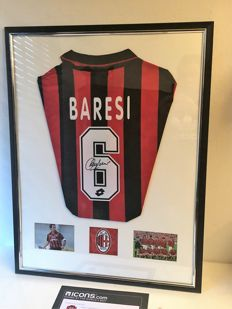 Franco Baresi Back Signed AC Milan 1994-95 Opel Home Shirt