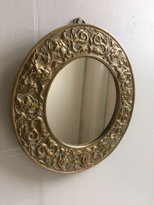 Mirror with beautiful brass frame