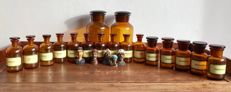 Nice collection of 17 original apothecary jars