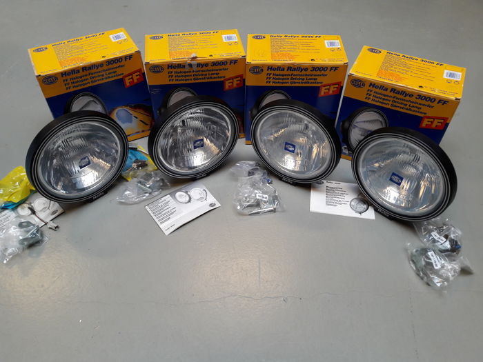 4 original Hella rallye lights - Catawiki