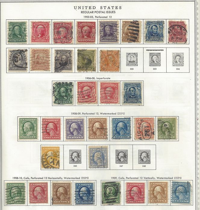 USA 1890/1957 - collection on 16 preprint album pages - Catawiki